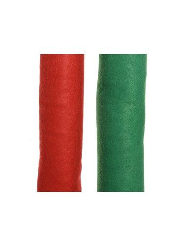 Decoris Decotapijt 240x90cm groen of rood
