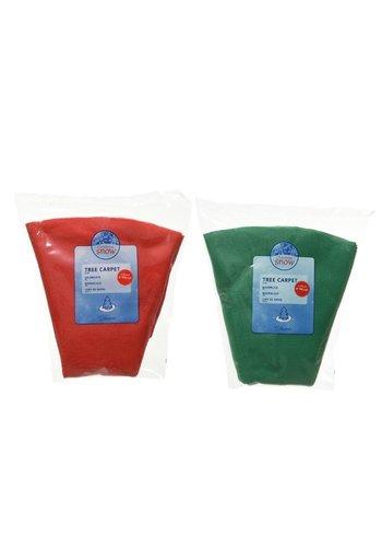 Decoris Boomkleed vilt d100cm groen of rood