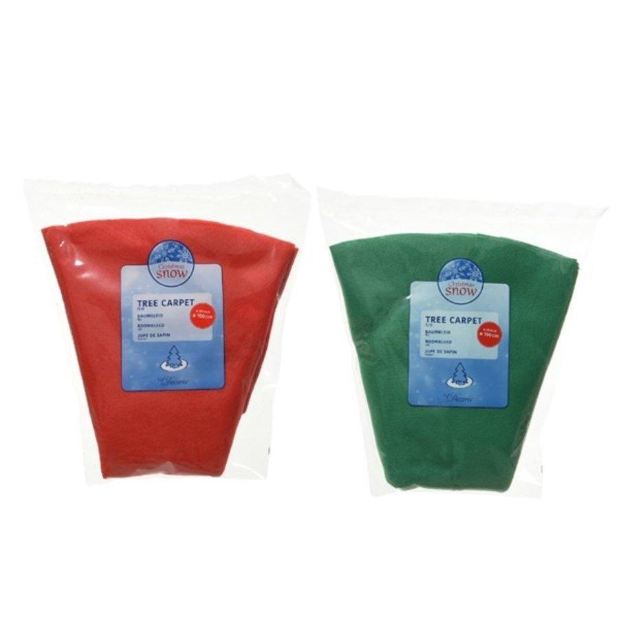 Boomkleed vilt d100cm groen of rood-1