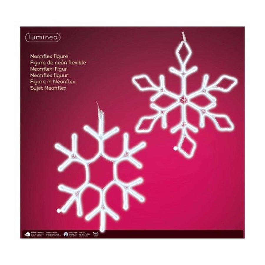 Led flex sneeuwvlok 69cm 576L koelwit 2ass-2