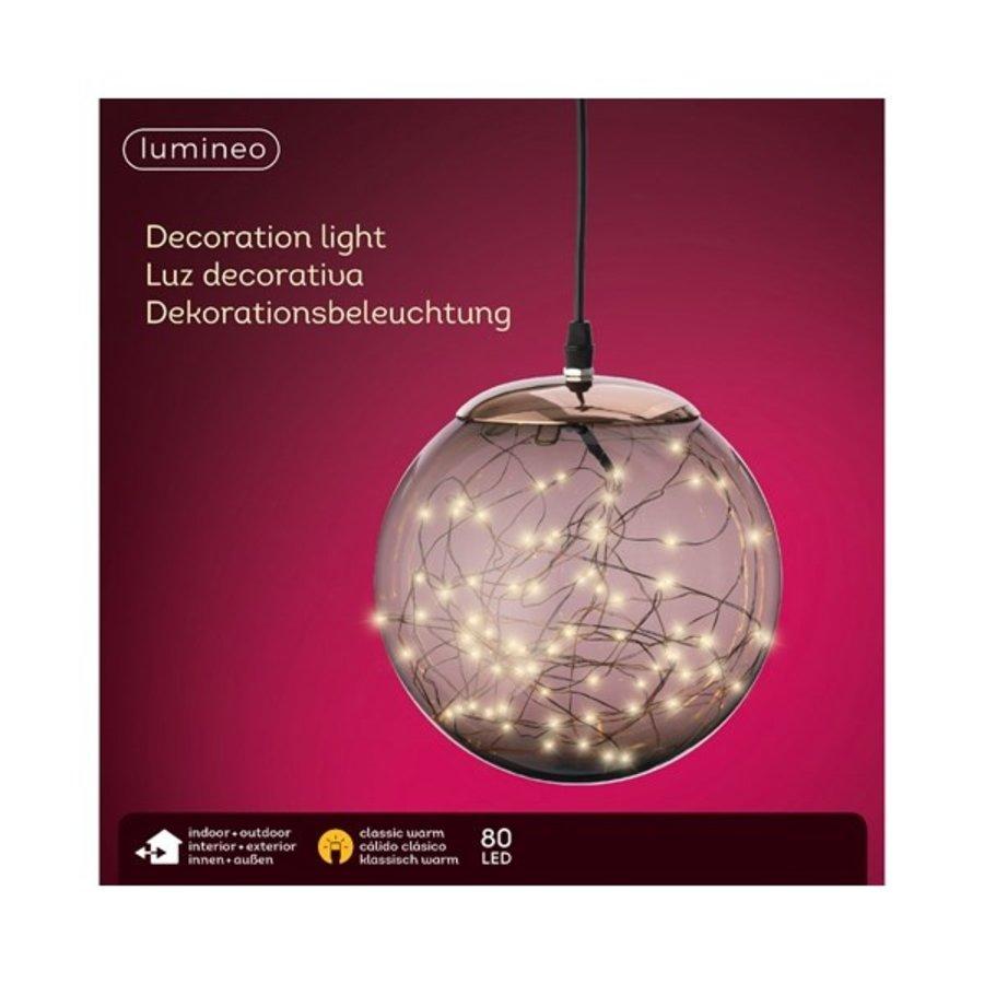 Micro LED bal plastic koper/klassiekwarm 80L-2