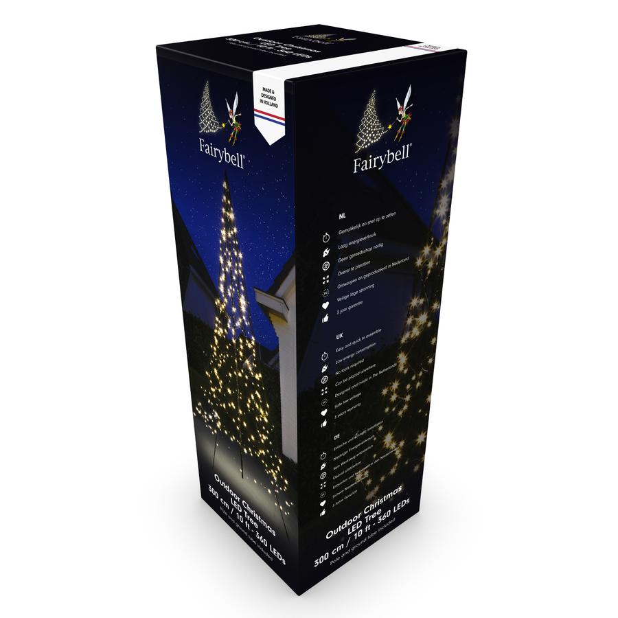 LED kerstboom 300cm, 360 LED, warm wit-2