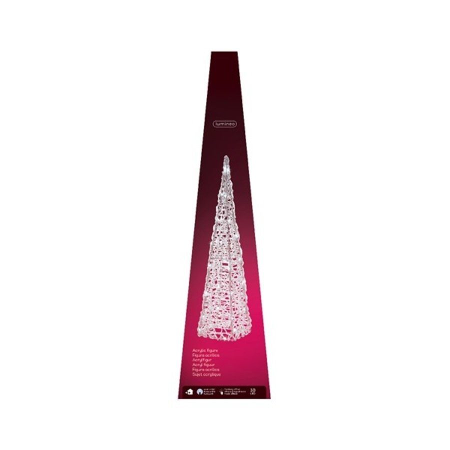 LED pyramide acryl 58cm koelwit-2