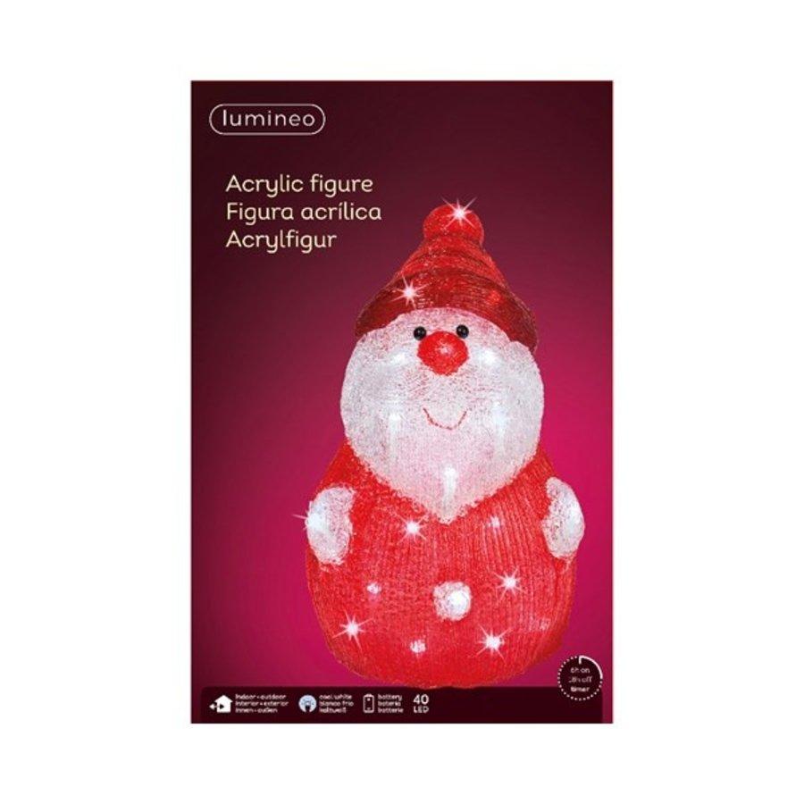 LED kerstman acryl 37cm 40L koelwit-2