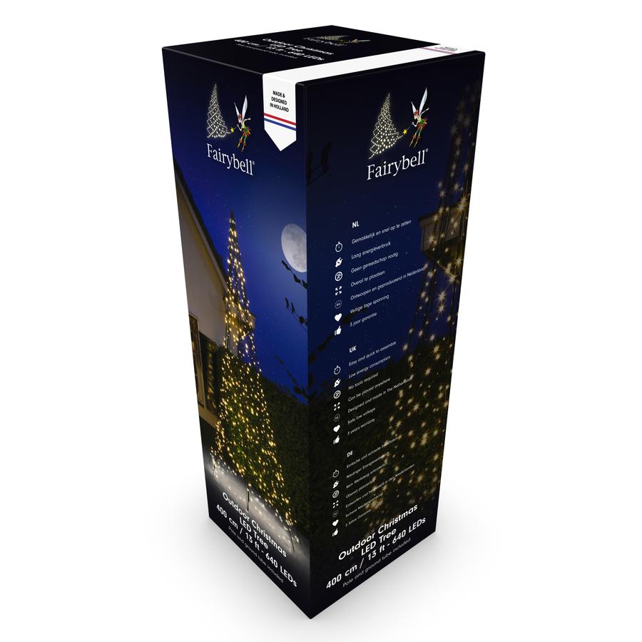 LED kerstboom 400cm, 640 LED, warm wit-2