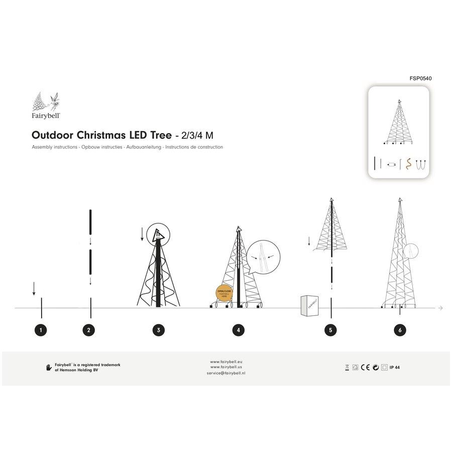 LED kerstboom 400cm, 640 LED, warm wit-3