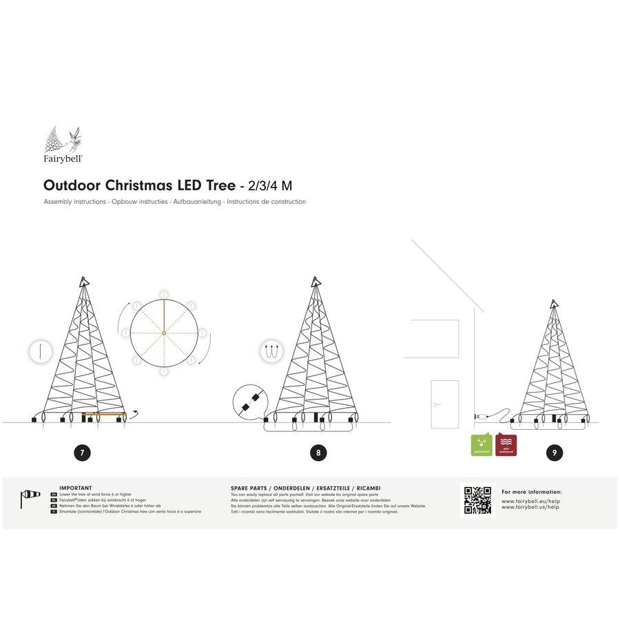 LED kerstboom 400cm, 640 LED, warm wit-4