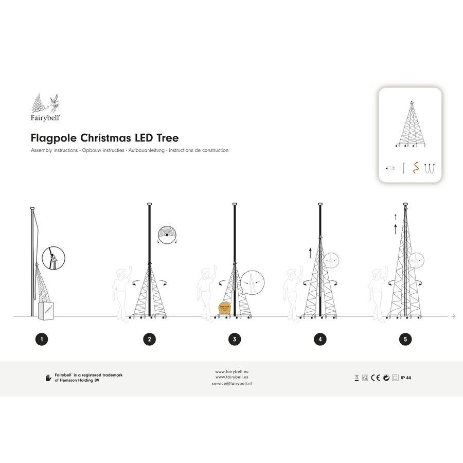 LED kerstboom 600cm, 900 LED warm wit-3
