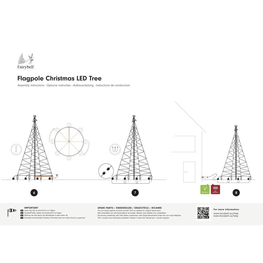 LED kerstboom 600cm, 900 LED warm wit-4