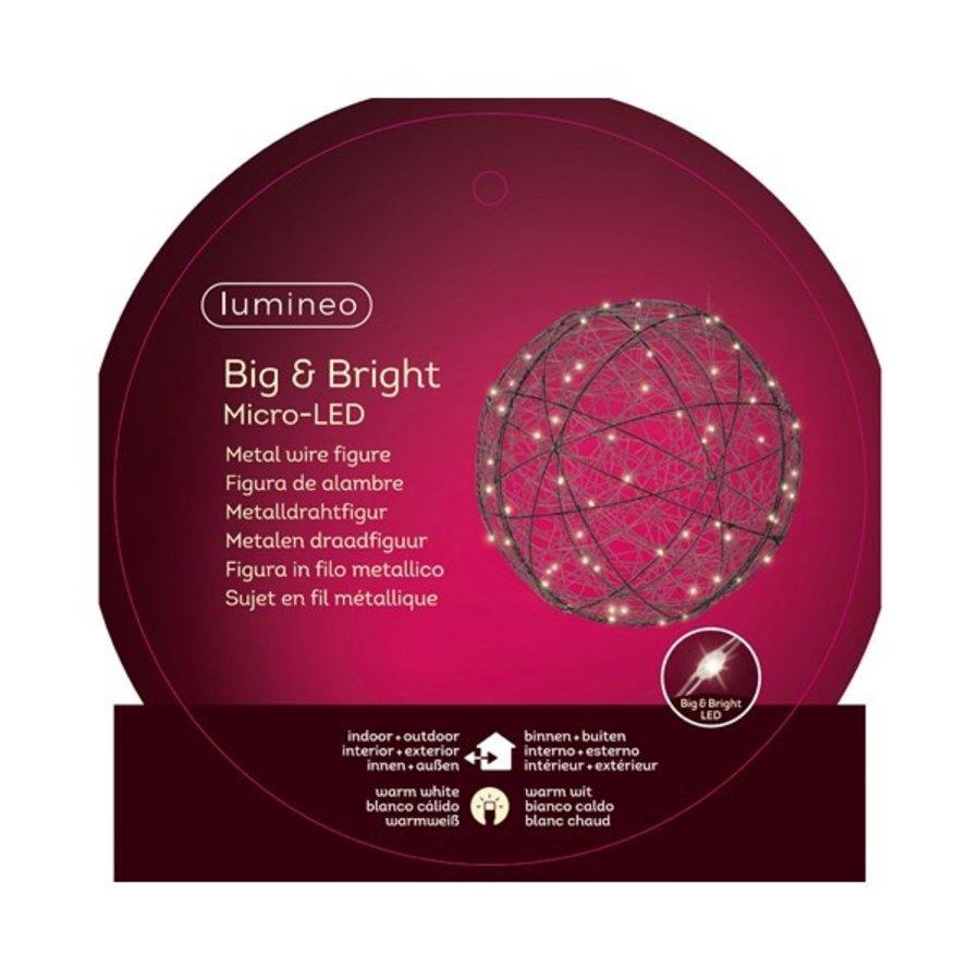 Micro LED bal 40cm  60L warmwit-2