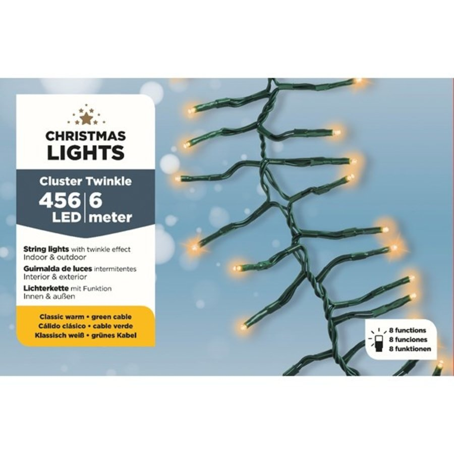 LED budget cluster twinkle - green cable - Klassiek Warm-2