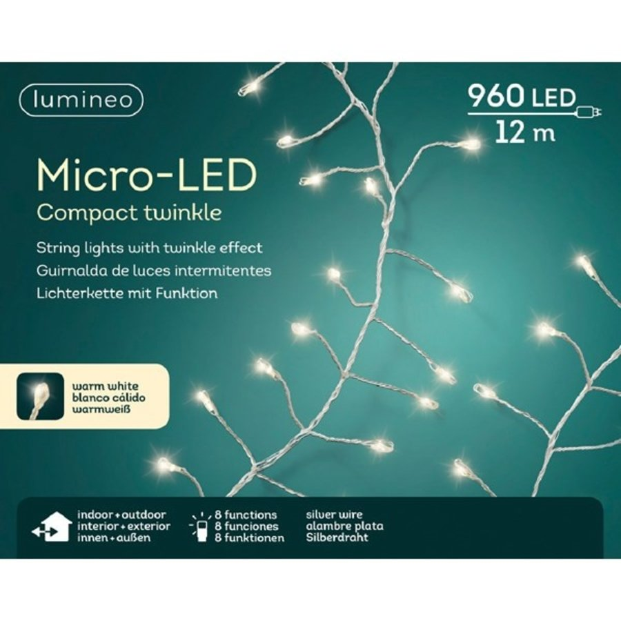 micro LED compact twinkle - silver wire - Warm Wit-3