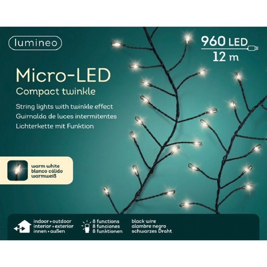 micro LED compact twinkle - black wire - Warm Wit-3