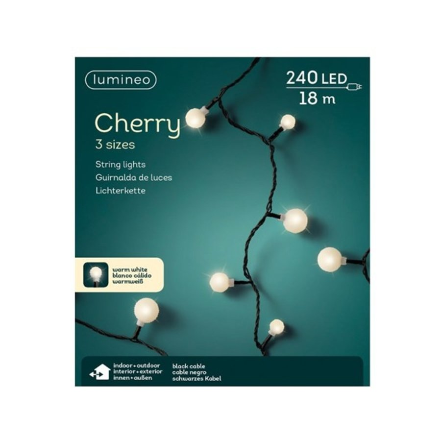LED cherry lights - black cable - Warm Wit-5