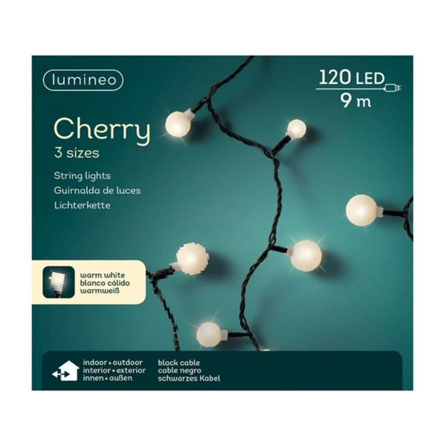 LED cherry lights - black cable - Warm Wit-1