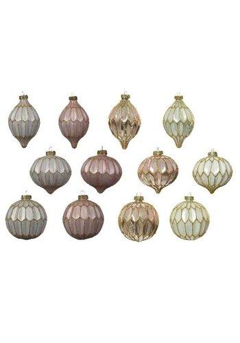 Decoris Glazen ornament dia 8cm