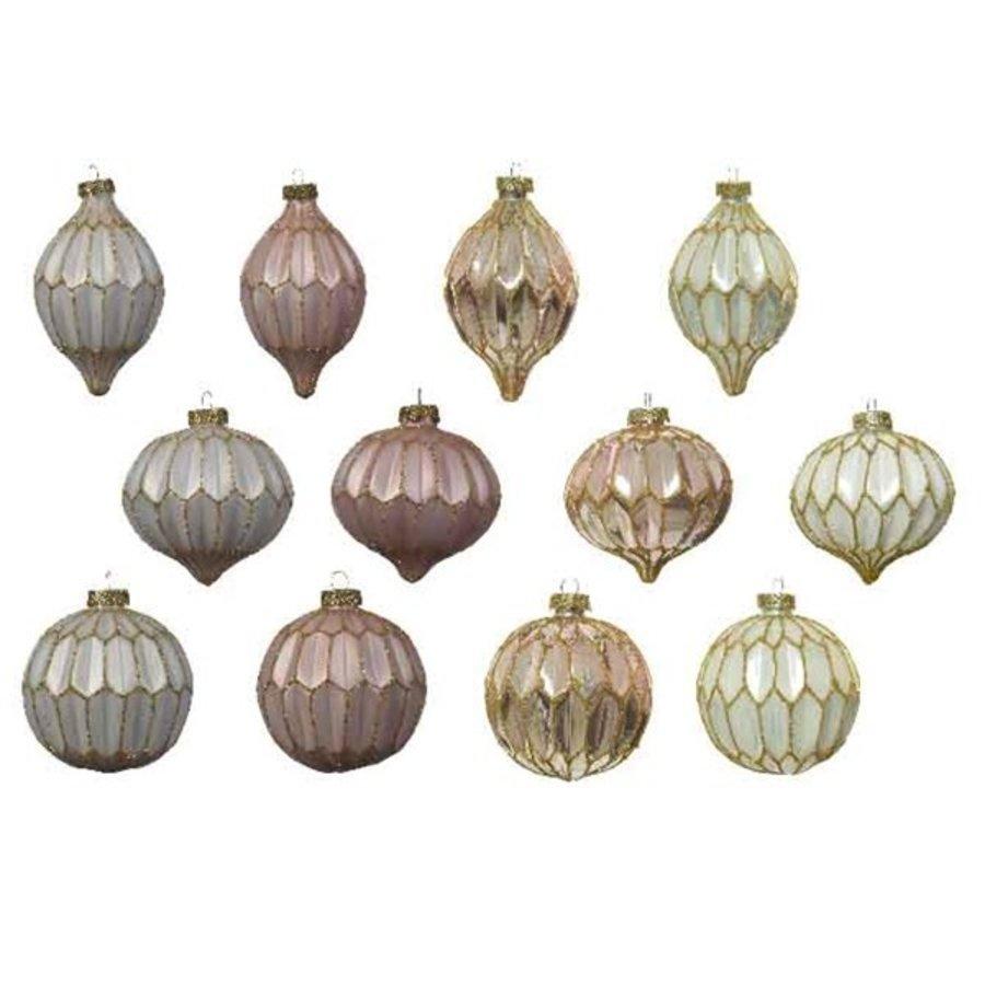 Glazen ornament dia 8cm-1