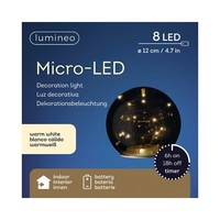 thumb-Micro LED bal glas 12cm 8L warmwit-2