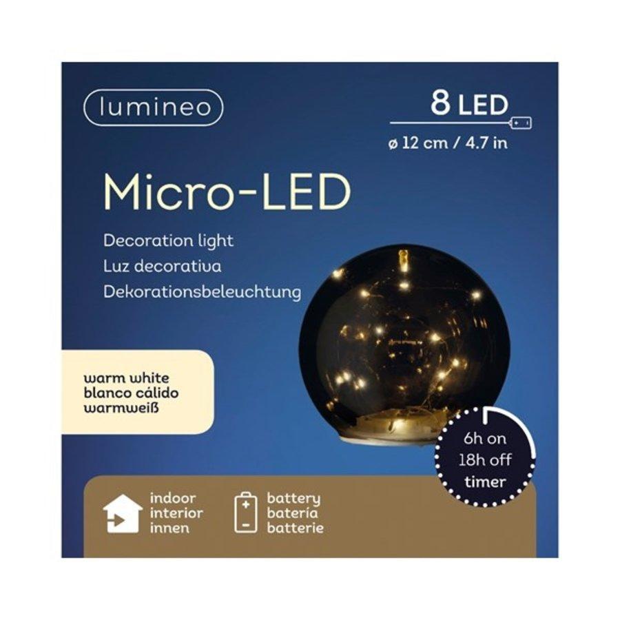 Micro LED bal glas 12cm 8L warmwit-2