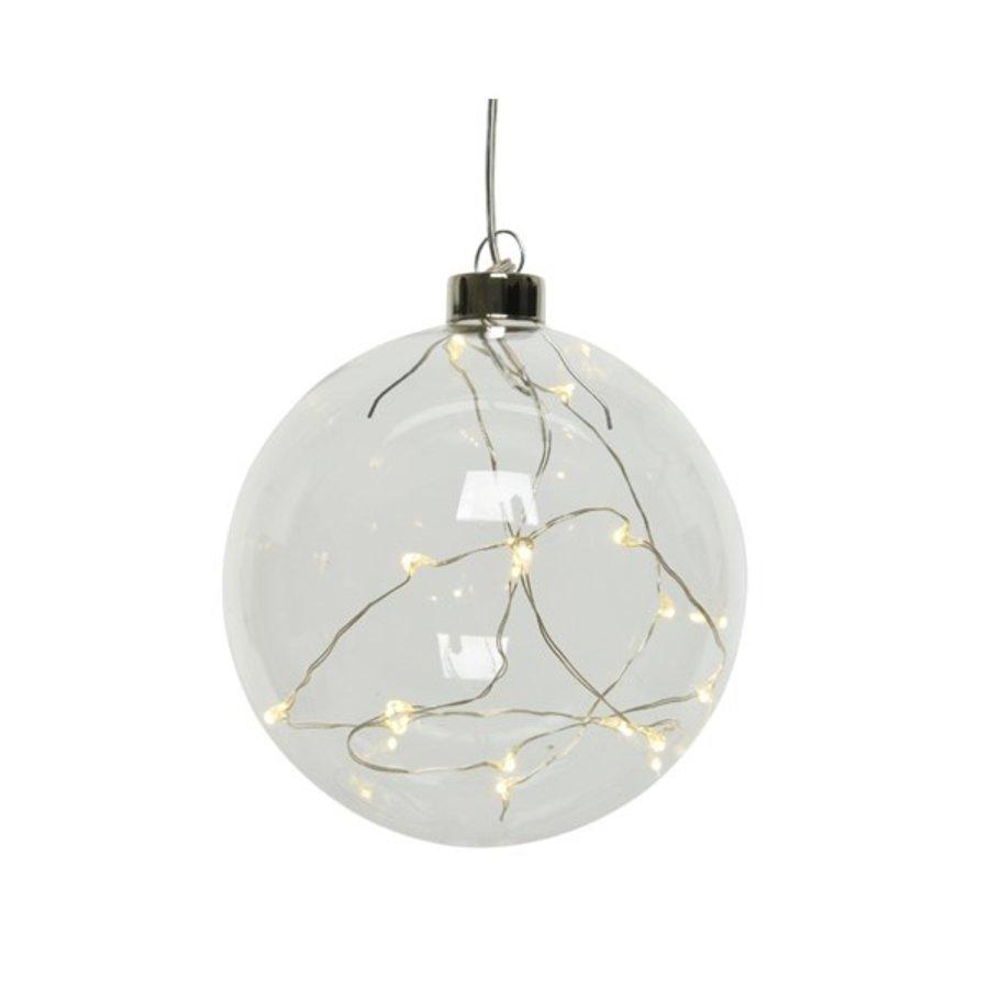 Micro LED bal glas 10cm 15L warmwit-1