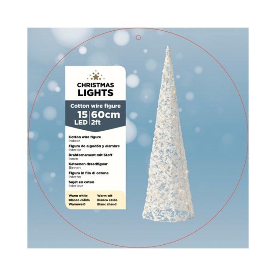 LED budget katoen kegel 60cm 15L warmwit-2