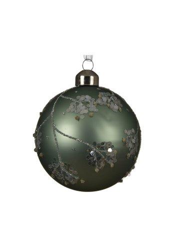Decoris Set/3 glazen kerstballen dia 8cm