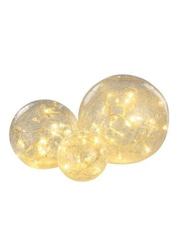 Lumineo LED bal glas set/3 warmwit