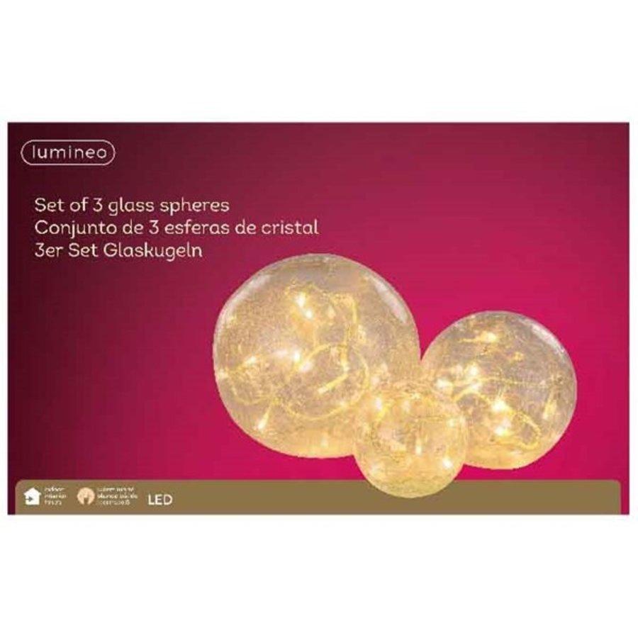 LED bal glas set/3 warmwit-2