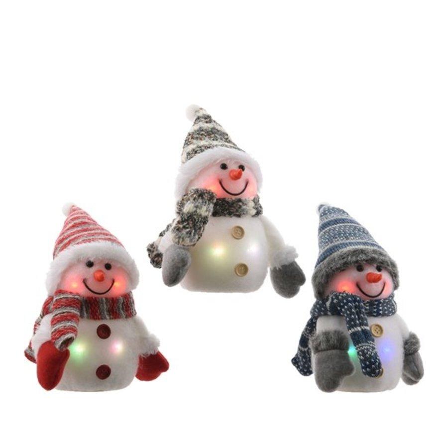 LED sneeuwpop knipper 15cm 4L multi-1