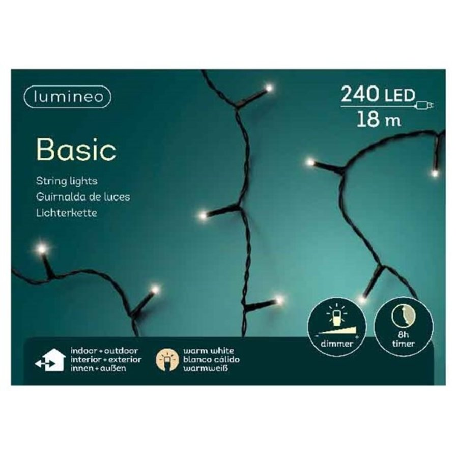 LED basic lights - black cable - Warm Wit-1