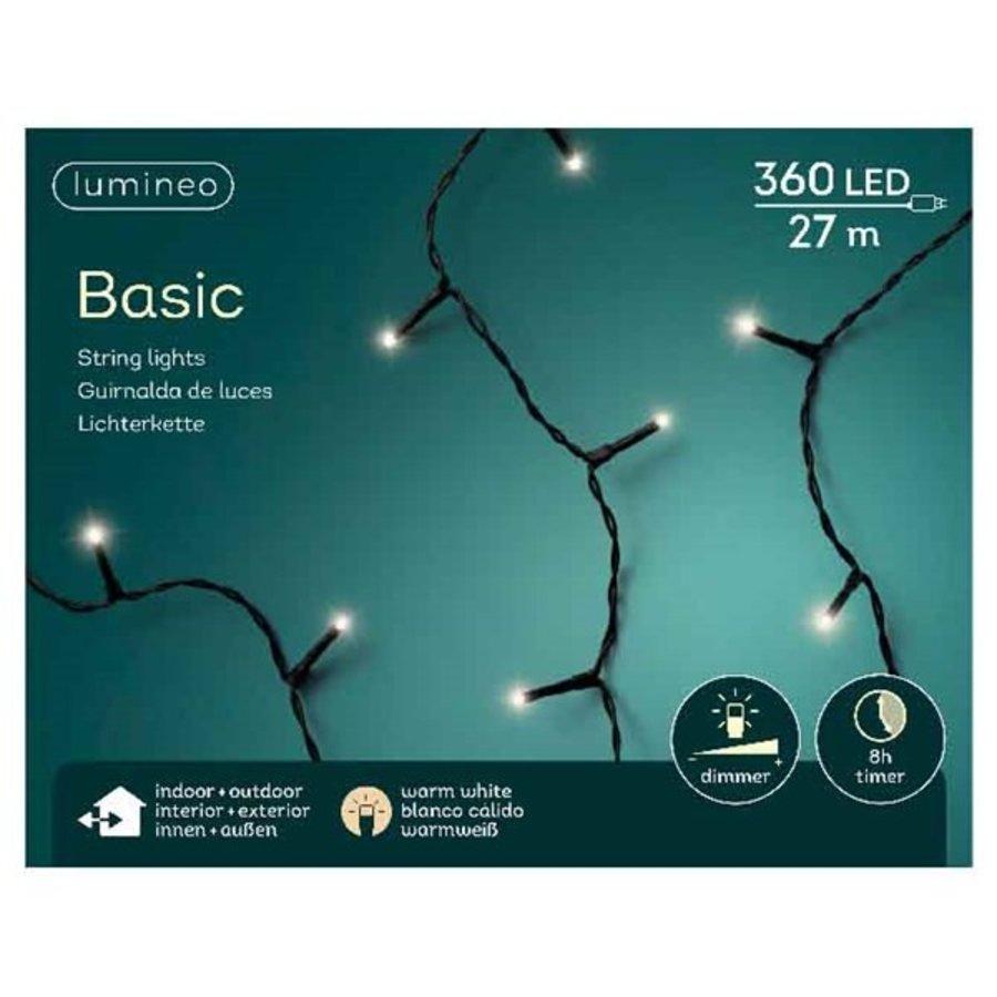 LED basic lights - black cable - Warm Wit-4