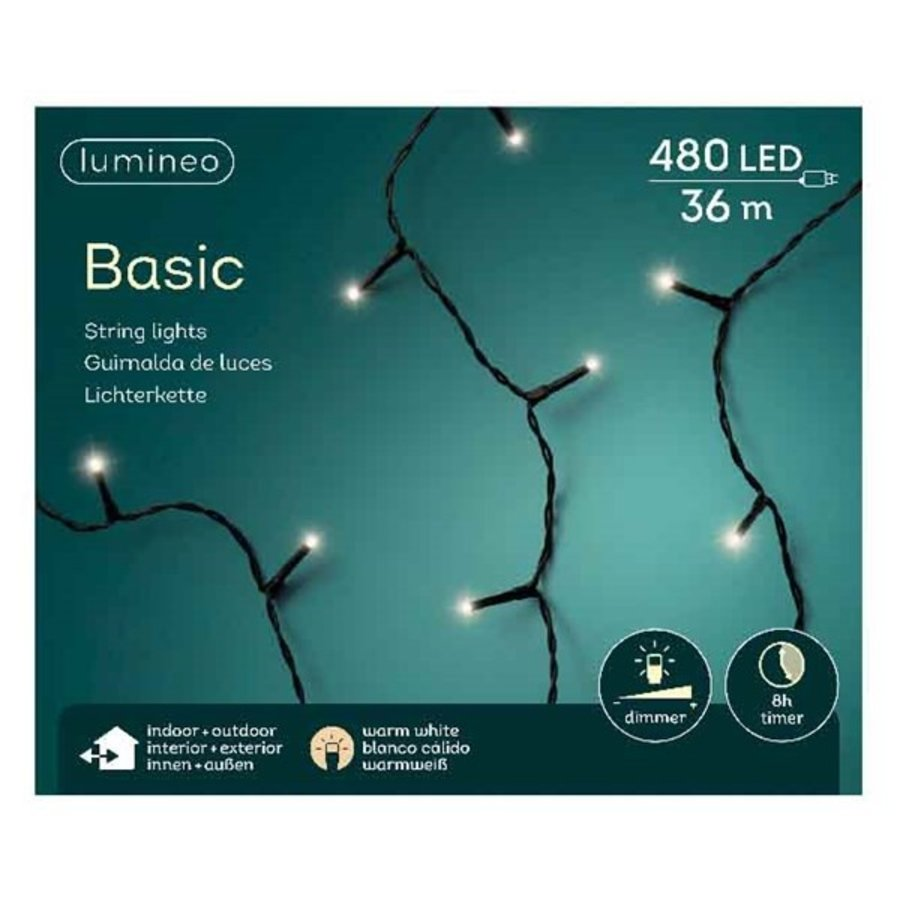 LED basic lights - black cable - Warm Wit-5