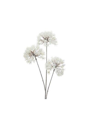 Decoris Plastic tak bloembal, 80cm, wit