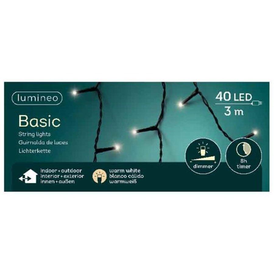 LED basic lights - black cable - Warm Wit-6