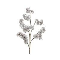 Plastic bloem op steel, 90cm
