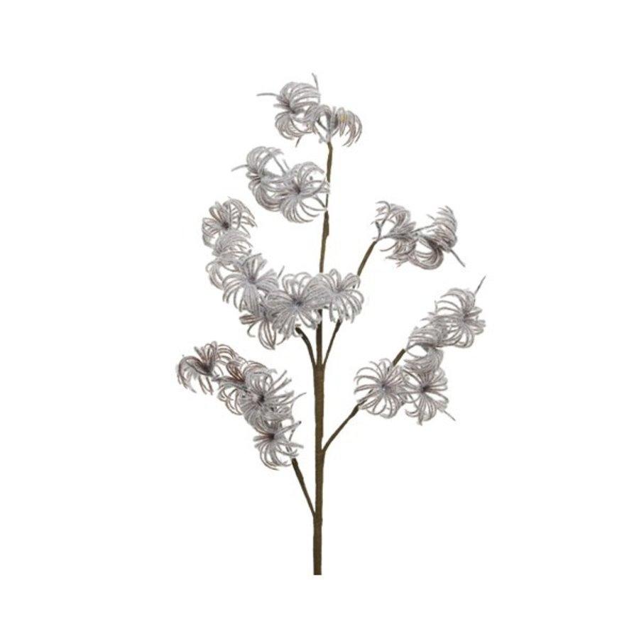 Plastic bloem op steel, 90cm-1