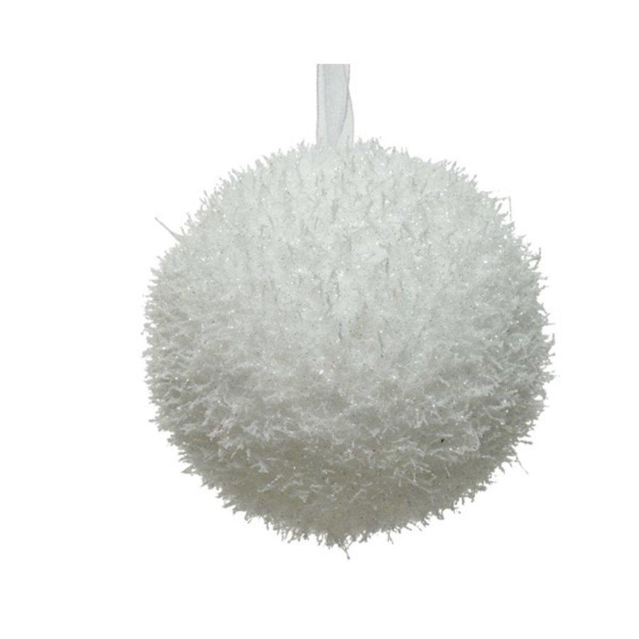 Kerstbal foam wit 10cm-1