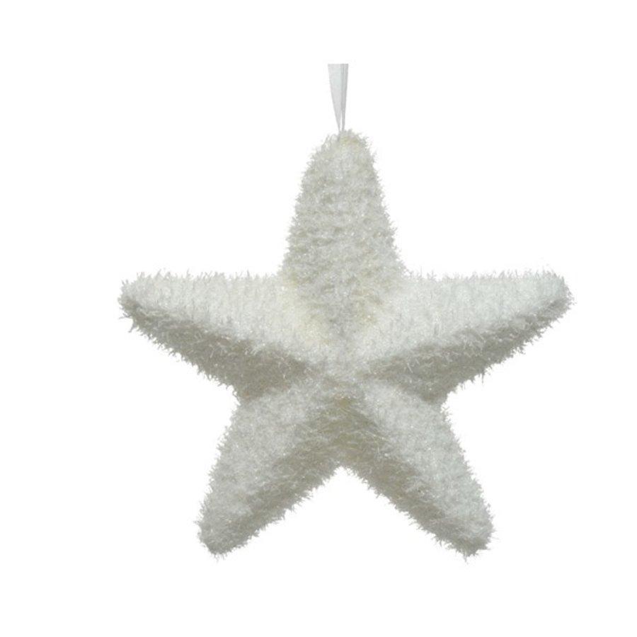 Ster foam wit met hanger 5.5x20x18.5cm-1