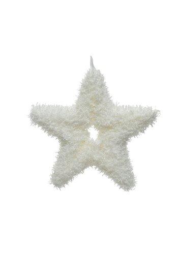 Decoris Ster open foam wit 2.5x12.5x12.5cm