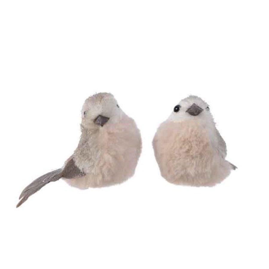 Vogel foam op clip grijs 6x14x8cm-1