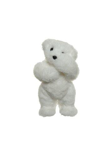 Decoris Ijsbeer foam wit 55x65x60cm
