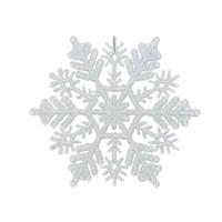 Sneeuwvlok d10cm wit met hanger /8