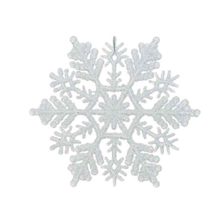 Sneeuwvlok d10cm wit met hanger /8-1