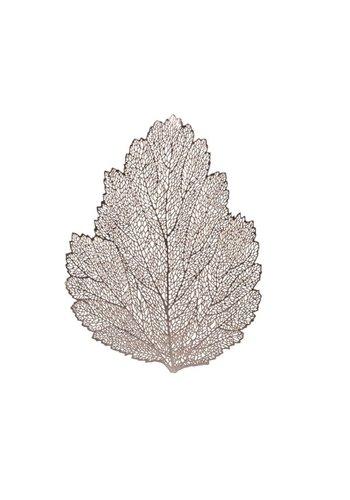 Decoris Placemat, leder, in bladvorm