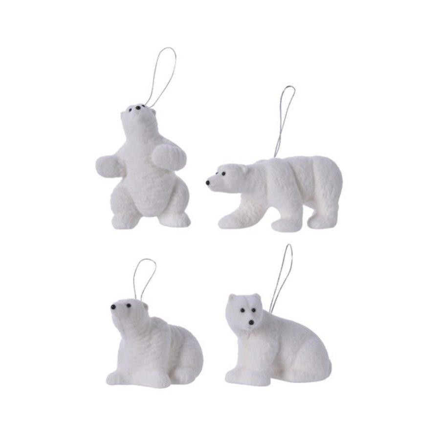 Ijsbeer plastic met hanger 4ass wit-1