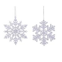Sneeuwvlok acryl met hanger 12cm /2
