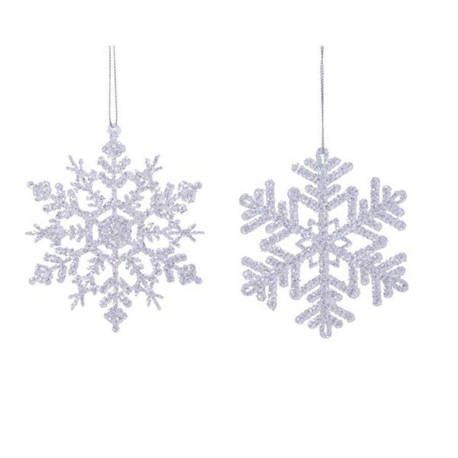 Sneeuwvlok acryl met hanger 12cm /2-1