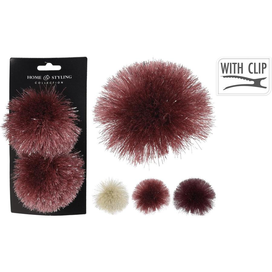 Pompon op clip 10cm /2-1
