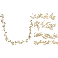 Guirlande  170cm goudkleurig