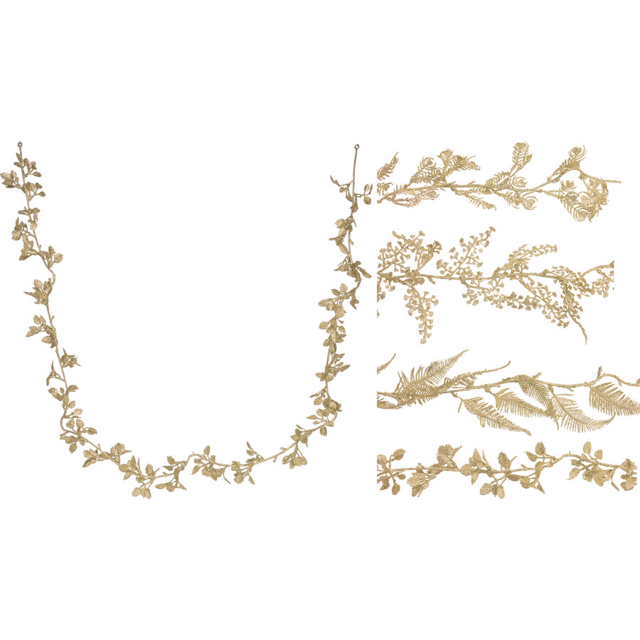 Guirlande  170cm goudkleurig-1